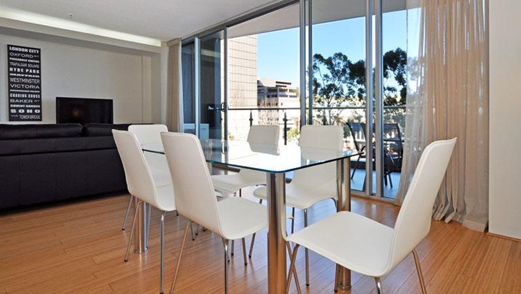 Modern living area in Astra Perth CBD St Georges Terrace
