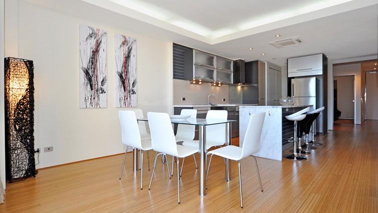 Kitchen/dining area in Astra Perth CBD St Georges Terrace
