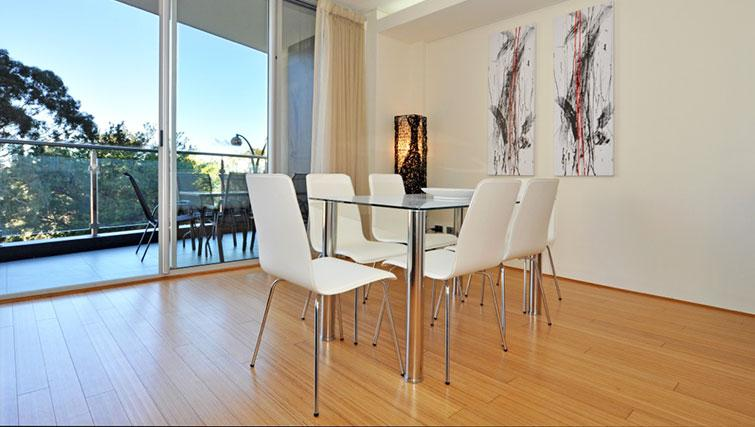Simplistic dining area in Astra Perth CBD St Georges Terrace
