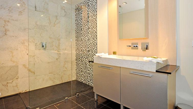 Stylish bathroom in Astra Perth CBD St Georges Terrace