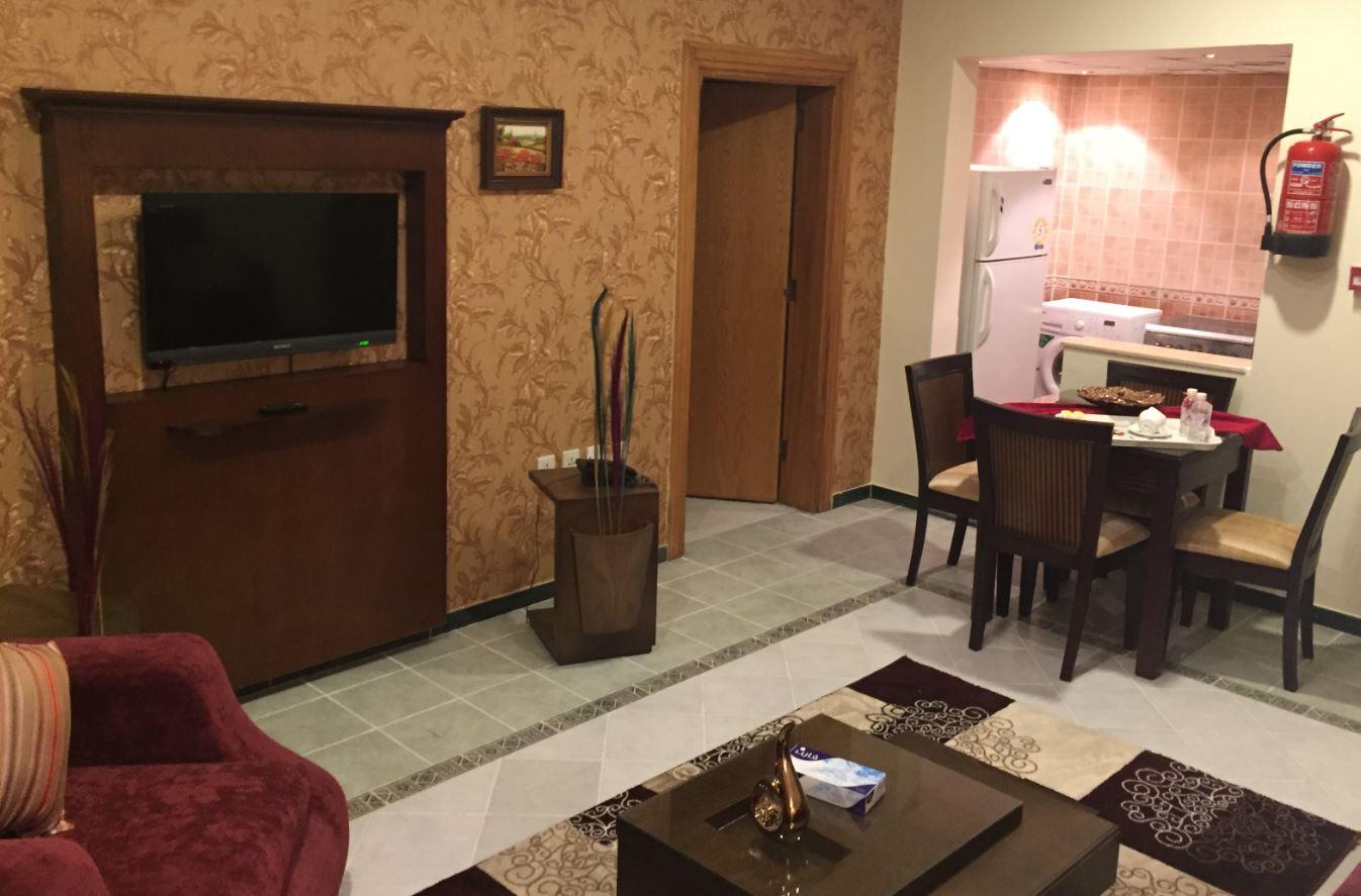 Lounge area at Safari Apartments