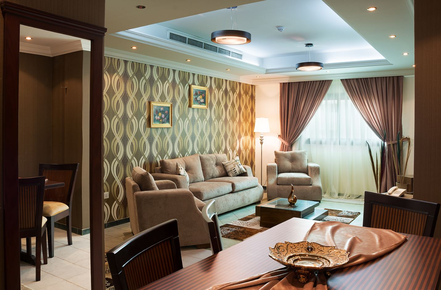 Living room at Safari Apartments