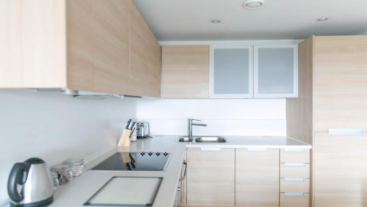 Modern kitchen at Park Heights Woking Apartments
