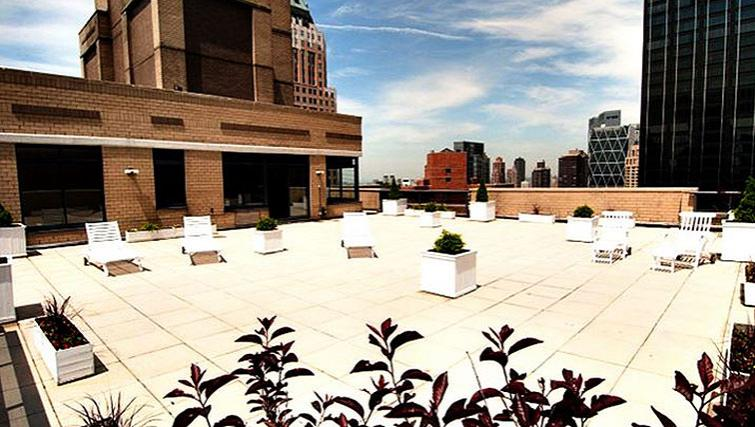 Sun-kissed patio in 235 West 48th Street Apartments