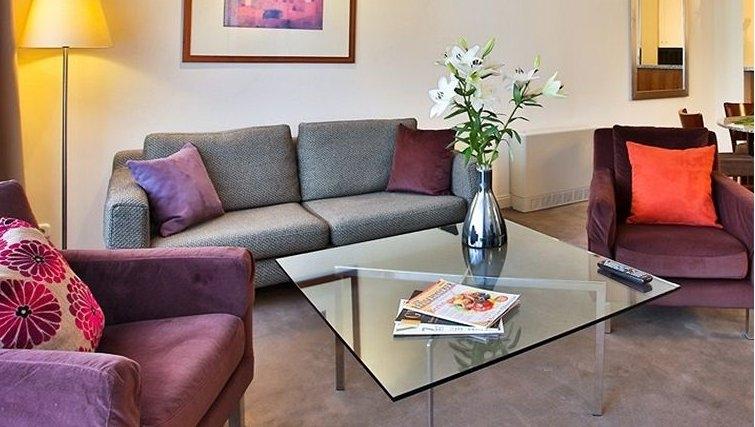 Creative living area in Adina Apartment Hotel Budapest