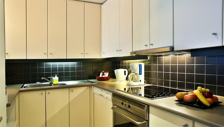 Memorable kitchen in Adina Apartment Hotel Budapest