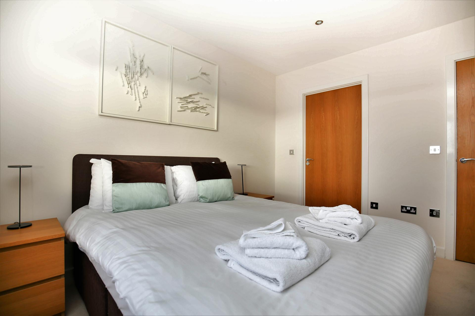 Comfortable bedroom at Grove Park Apartment