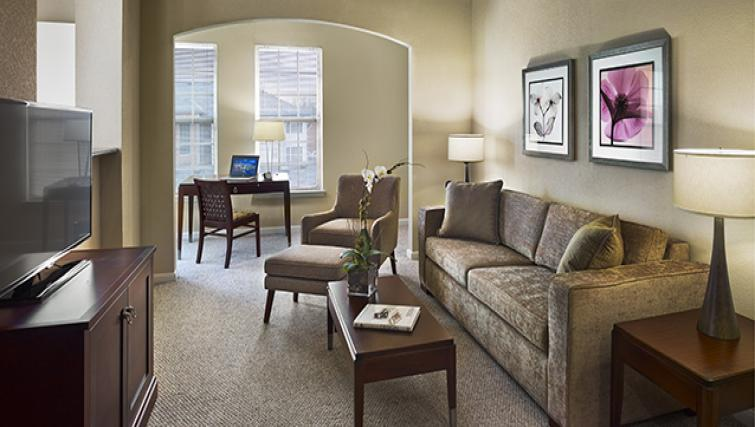 Delightful living area in AVE Somerset Apartments