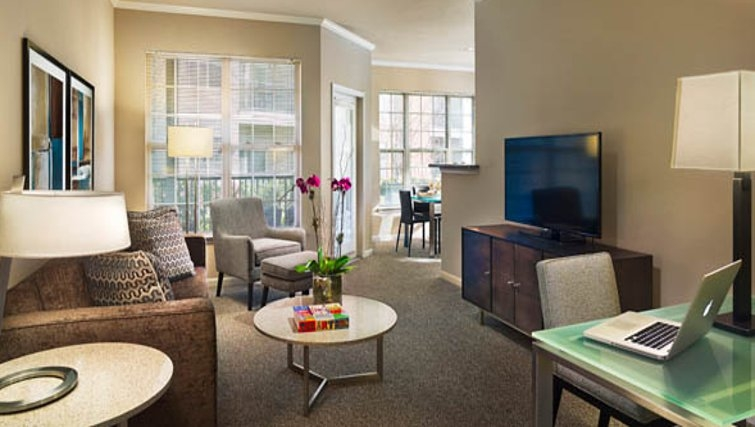 Gorgeous living area in AVE Somerset Apartments