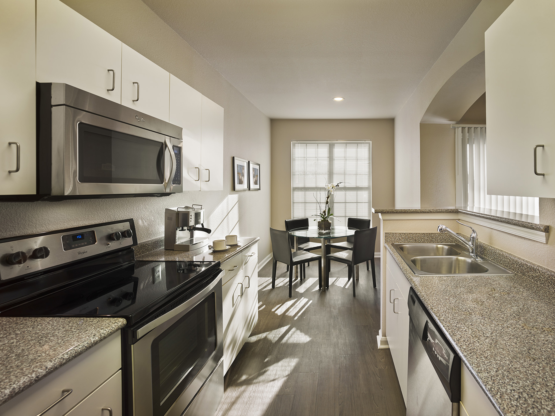 Kitchen at AVE Somerset Apartments