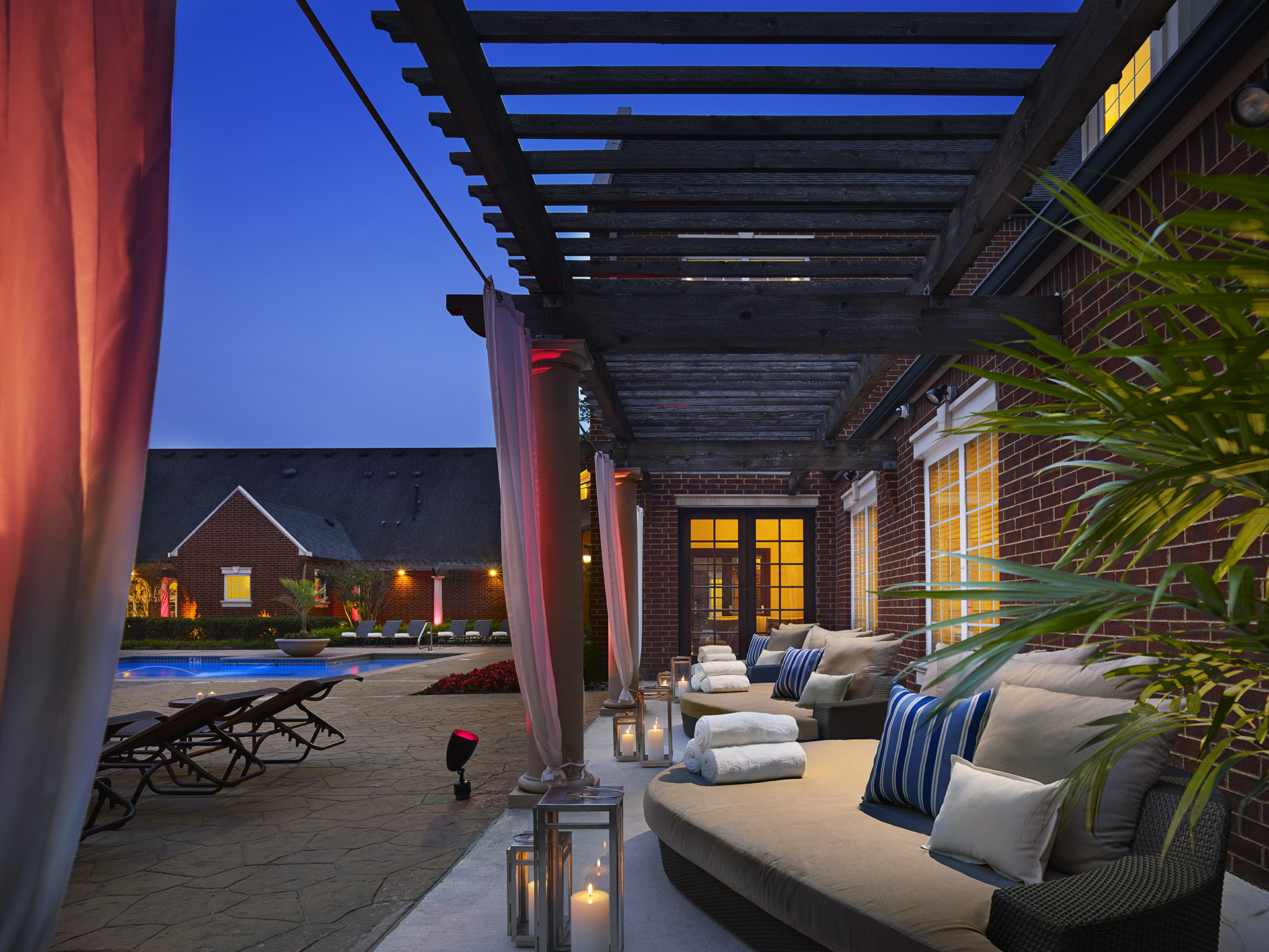 Terrace area at AVE Somerset Apartments
