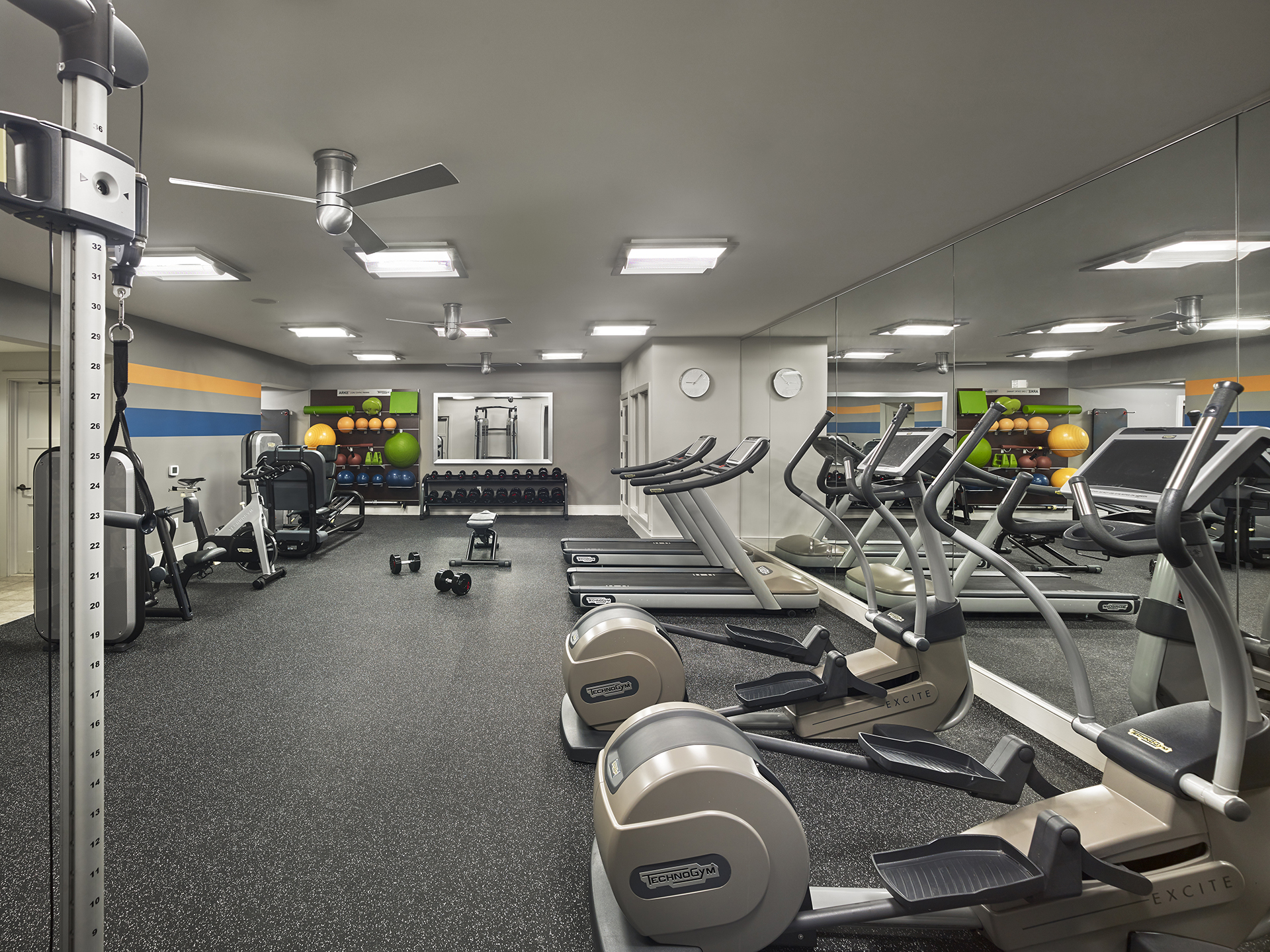 Gym at AVE Downingtown Apartments