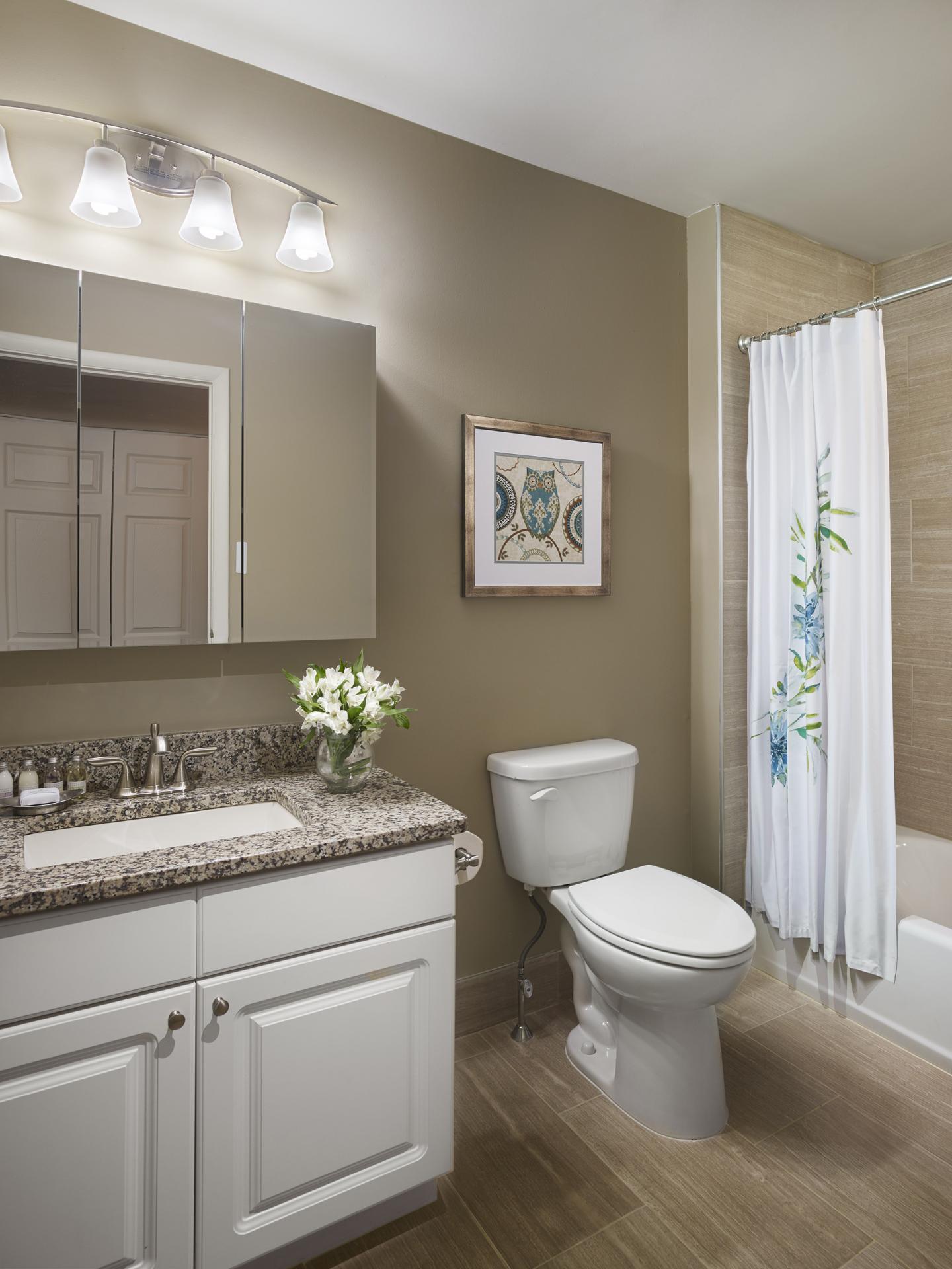 Bathroom at AVE Downingtown Apartments