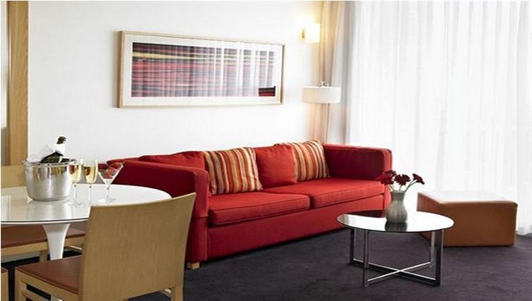 Sophisticated living area at Adina Apartment Hotel Copenhagen