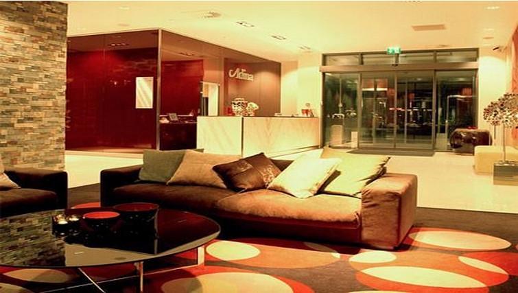 Welcoming lobby at Adina Apartment Hotel Copenhagen