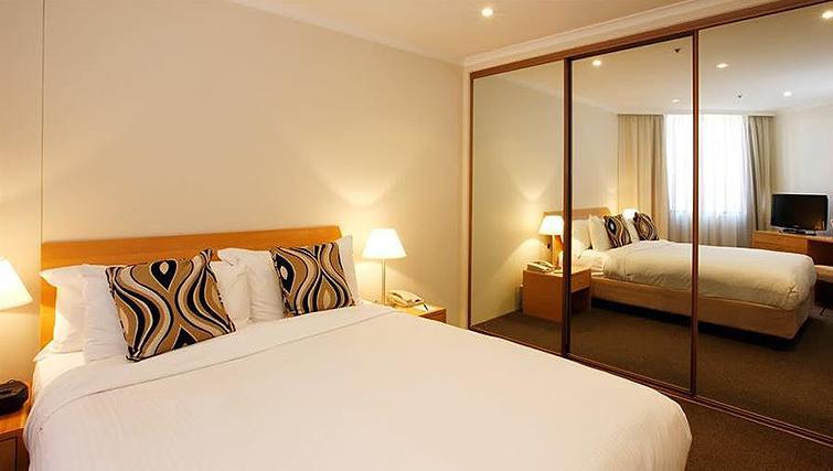 Relaxing bedroom in York Apartments