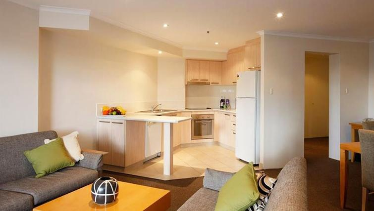 Open plan kitchen at York Apartments