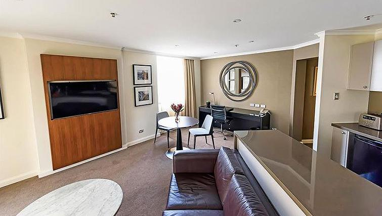 Comfortable living area at York Apartments