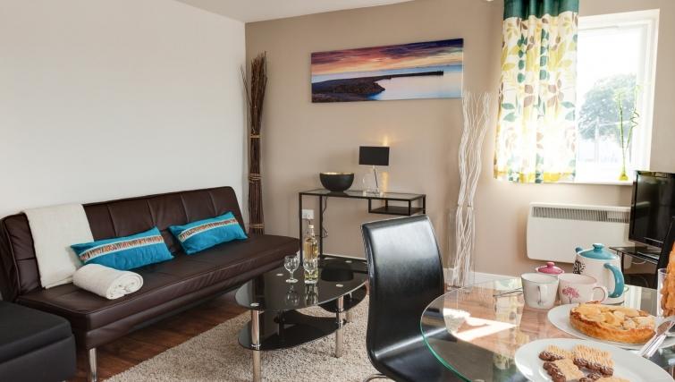 Stunning living area in Meridian Apartment Suites