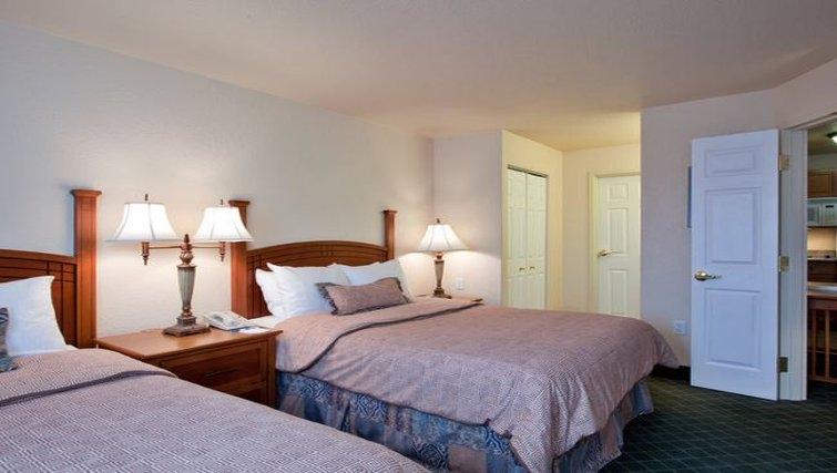 Relaxing bedroom in Staybridge Suites Calgary Airport