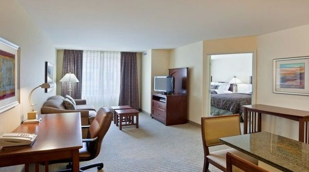 Spacious living area in Staybridge Suites Seattle North-Everett
