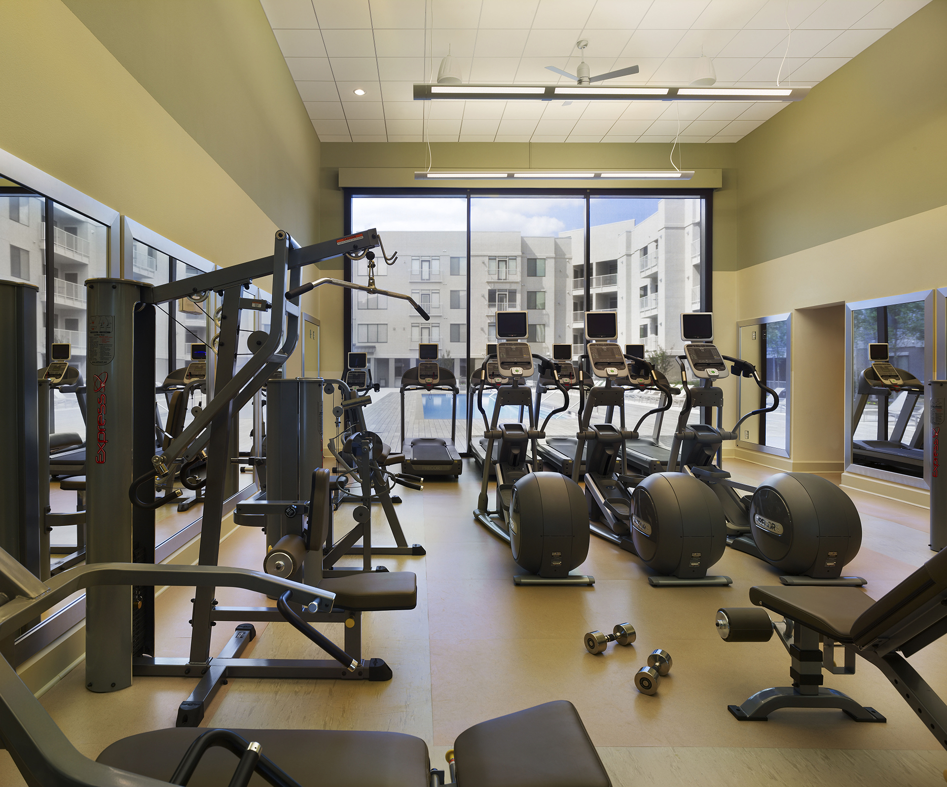 Gym at AVE Clifton Apartments