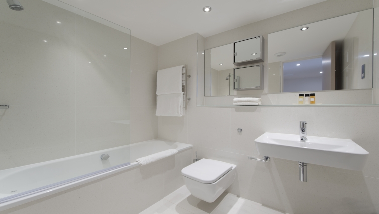 Immaculate bathroom in The Rosebery Aparthotel