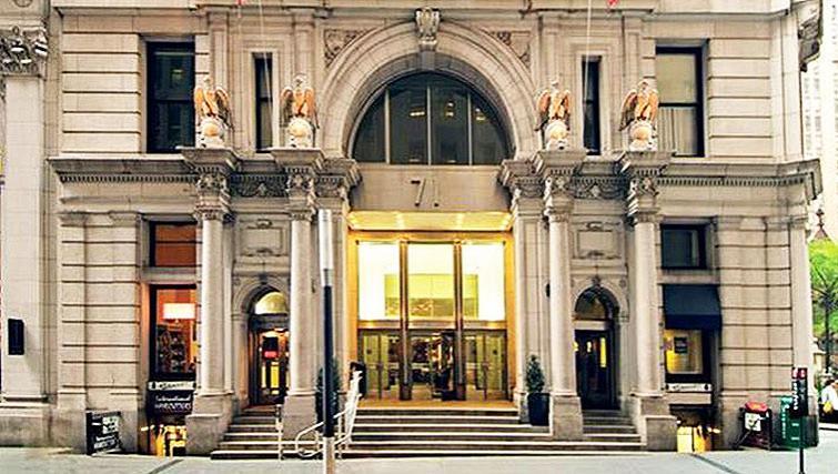 Grand exterior of 71 Broadway Apartments