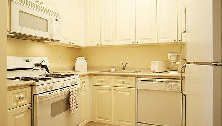 Bright kitchen in 71 Broadway Apartments