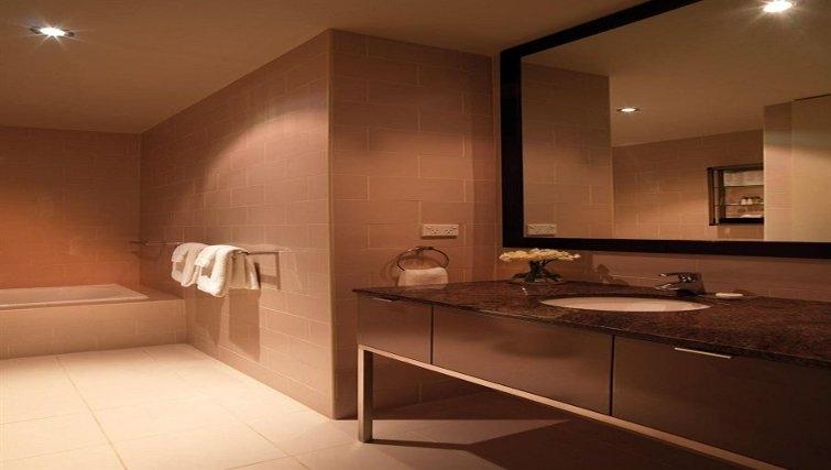Bathroom in Adina Apartment Hotel Adelaide Treasury