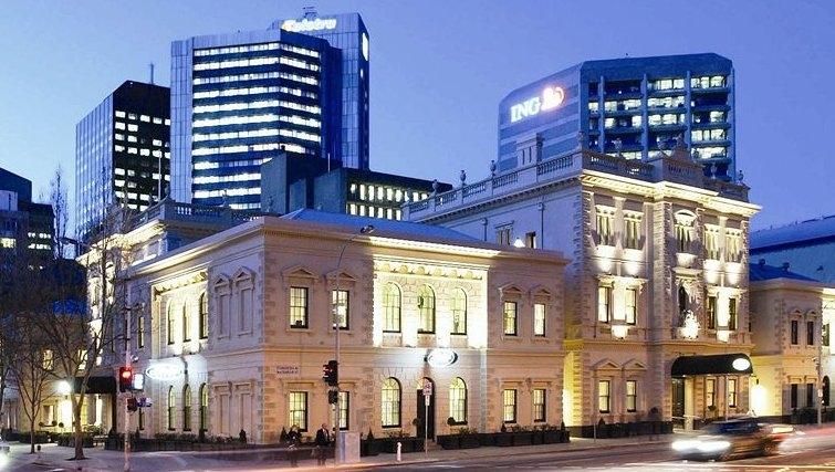 Majestic exterior of Adina Apartment Hotel Adelaide Treasury