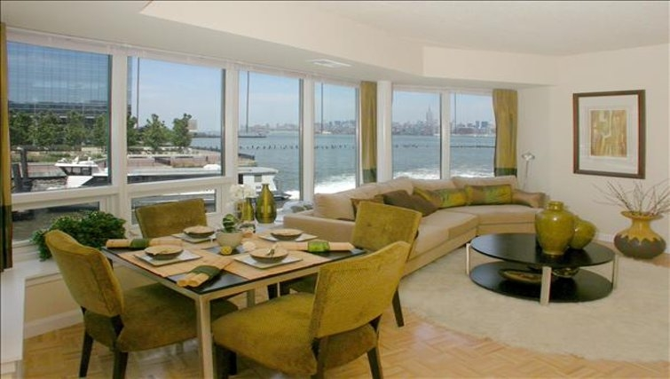 Delightful living area in The Pier Apartments