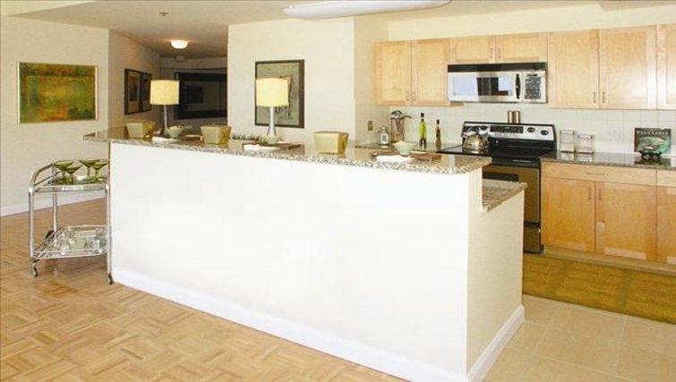 Modern kitchen in The Pier Apartments