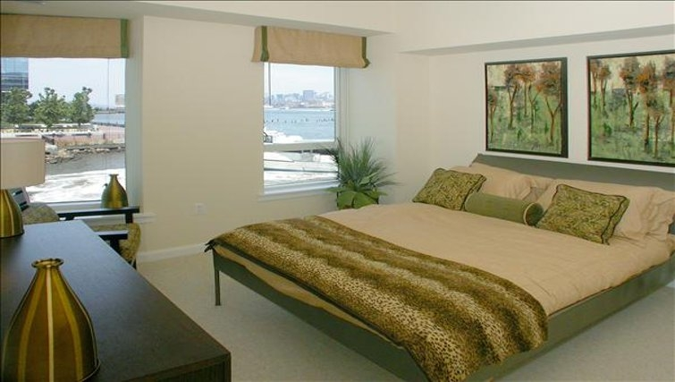 Tranquil bedroom in The Pier Apartments
