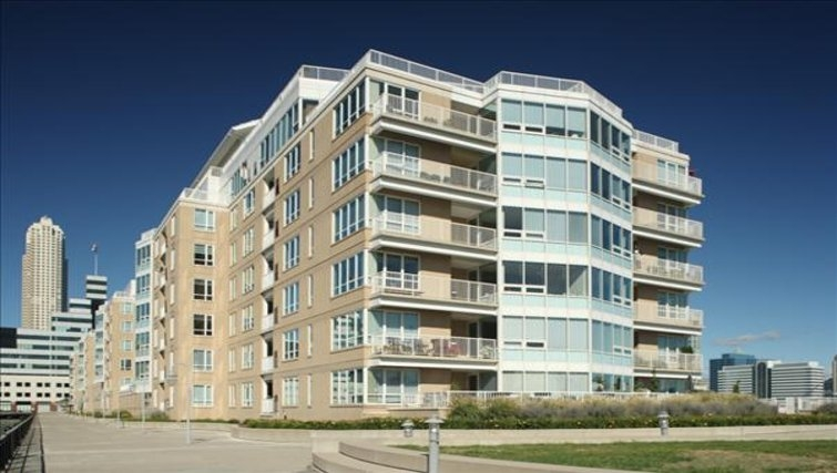 Grand exterior of The Pier Apartments
