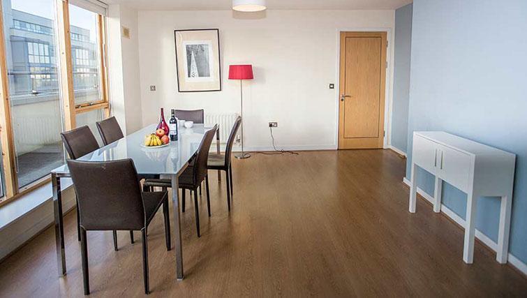 Simplistic dining area in Gasworks Apartments