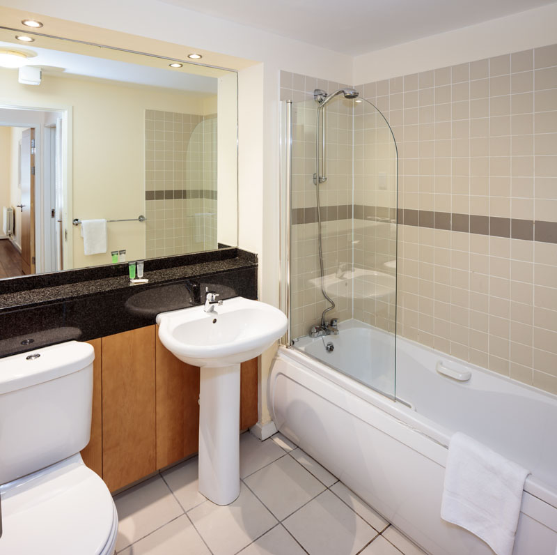 Bathroom in Gasworks Apartments