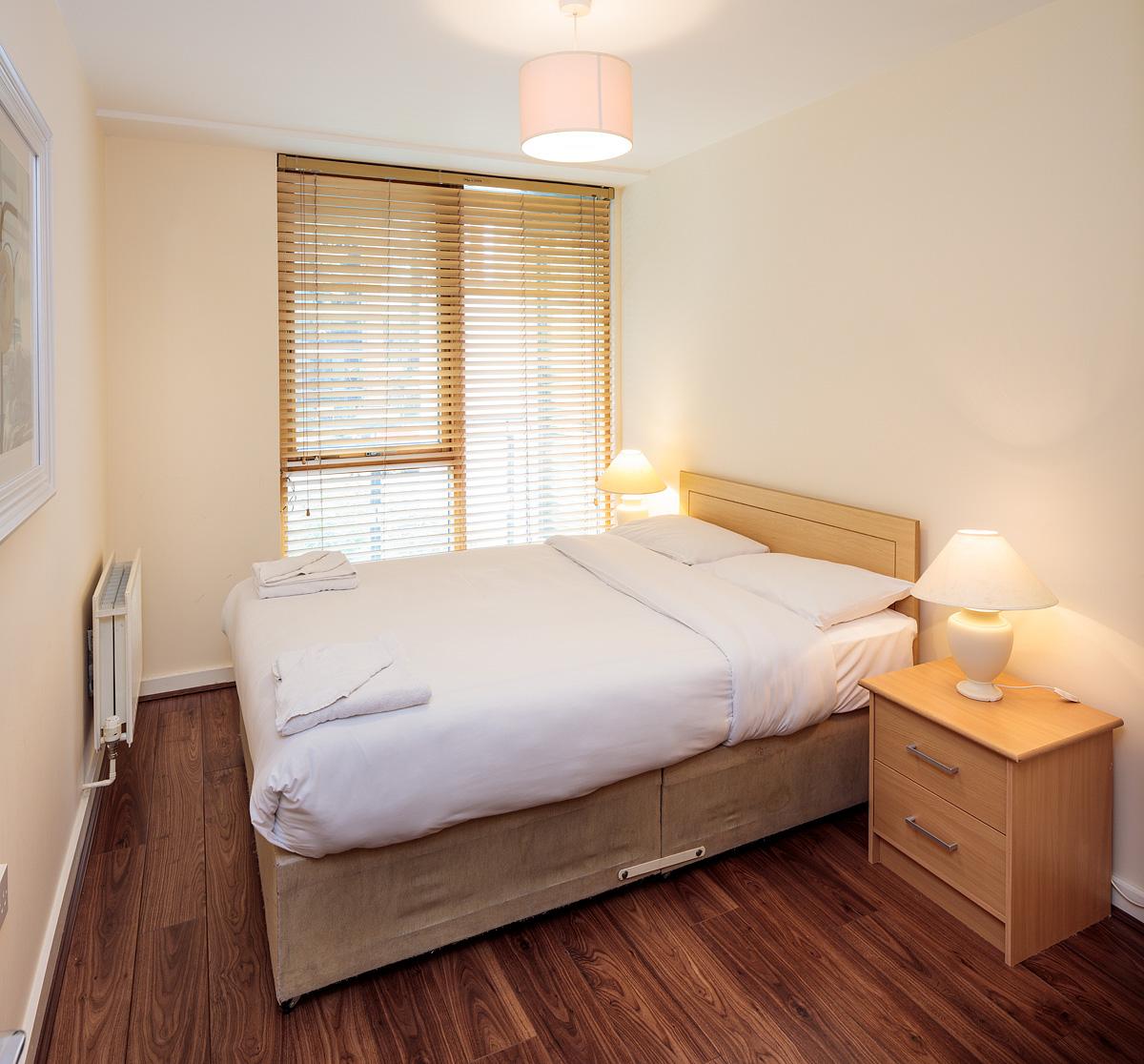Second bedroom in Gasworks Apartments