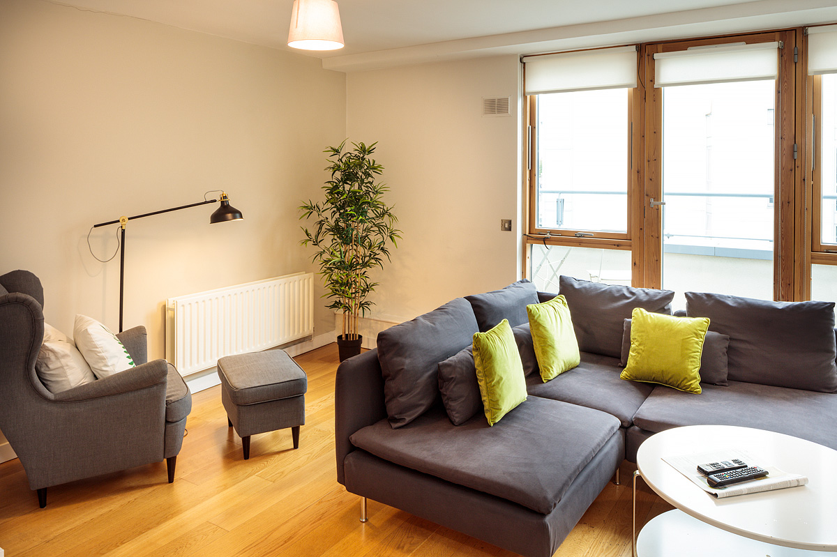 Sofa in Gasworks Apartments