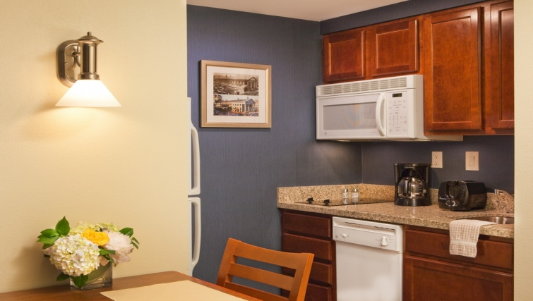 Practical kitchen in Residence Inn Boston Harbor on Tudor Wharf