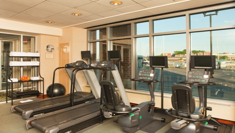 Well equipped gym in Residence Inn Boston Harbor on Tudor Wharf