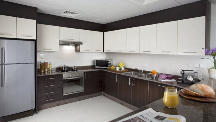 Equipped kitchen in Hyatt Residence Doha West Bay