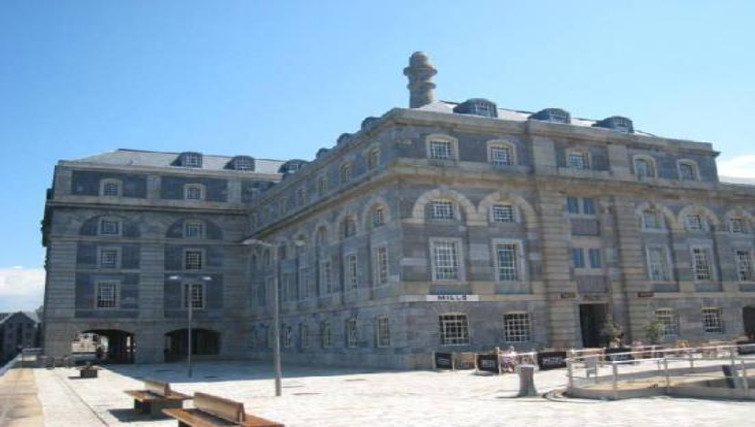 Gorgeous exterior of Brewhouse Royal William Yard Apartments