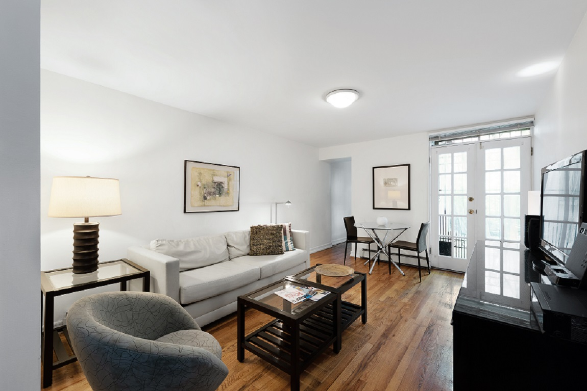Living room at 155 West 74th Street Apartment