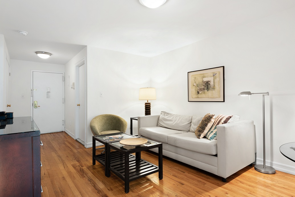 Couch at 155 West 74th Street Apartment