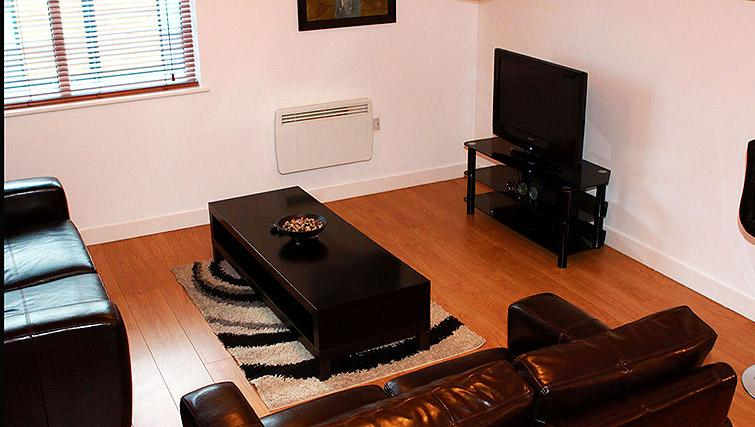 Cosy living area in Salford Quays Apartments
