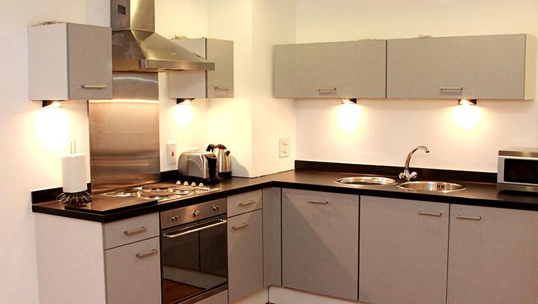Stunning kitchen in Salford Quays Apartments