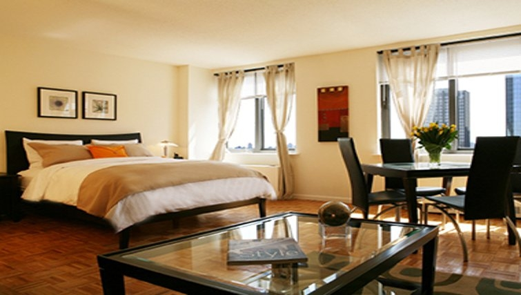 Gorgeous bedroom in South Park Tower Apartments