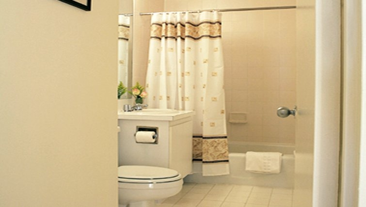 Ideal bathroom in South Park Tower Apartments