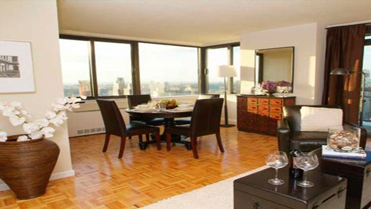 Classy dining area in South Park Tower Apartments